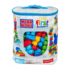 "Mattel DCH63 Set Mega Bloks - primul constructor - seria ""First Builders"" 80 piese"