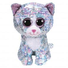 """TY TY36674 Jucarie de plus cu paiete """"Pisica Whimsy"""" 15 cm"""