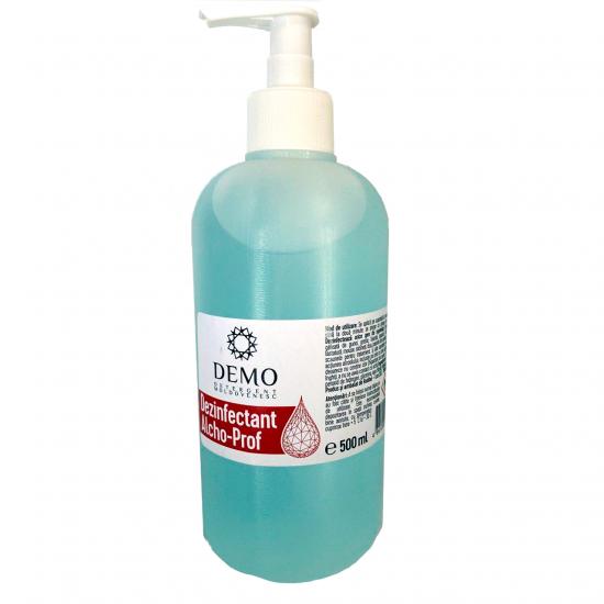 Soluție dezinfectantă pentru mîini și suprafețe Demo Alcho-Prof, 500ml