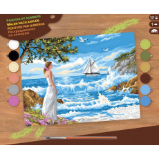 Sequin Art Paint by Numbers SQ1334 Set creativ ,,Whispering Shores''