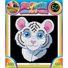 Sequin Art SQ1326 Set creativ cu paiete ,,60 Tigrul Alb''