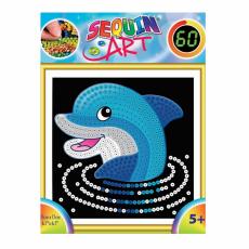 Sequin Art SQ1327 Set creativ cu paiete ,,60 Delfin''