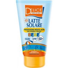 Lapte pentru protecție solară pentru copii Delice Solaire Bebe SPF50+