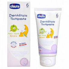 Pastă de dinți Chicco pentru copii cu gust de măr și banană, 50 ml