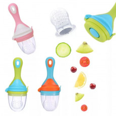 Nibler BabyNews Ice Cream cu duză din silicon Green/Blue/Rose
