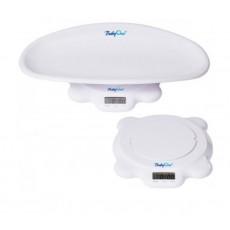 Căntar electronic BabyOno 2 în 1 pentru copii cu greutatea până la 50 kg. White