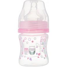 Biberon anti-colic 120 ml BabyOno din plastic cu gât larg Rose