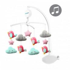 BabyOno 0626 Carusel pentru pătuc Clouds&Birds, muzical cu jucării de pluș