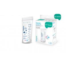 Pungi de păstrare a laptelui cu indicator de temperatură BabyOno NATURAL NURSING 20 buc.