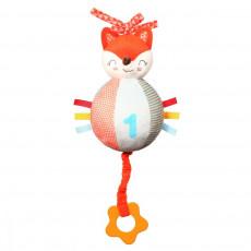 """BabyOno 1167 Jucărie-dentiție """"Fox Vincent"""" cu cutie muzicală"""