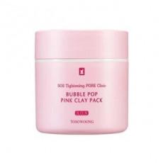 Tosowoong SOS Tightening Pore Clinic Bubble Pop Pink Clay Pack - Mască cu calamină și argilă roz