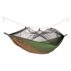 Hamac Amazonas Moskito-Traveller Thermo, Green/Brown