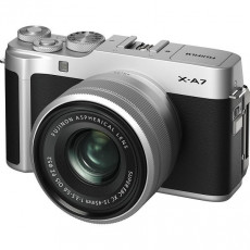 Aparat foto Fujifilm X-A7 Silver, Fujinon XC15-45mm F3.5-5.6 OIS PZ Silver