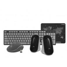 Set Natec Gaming Kit 4 in 1 Black/Grey, USB (NKL-1179)