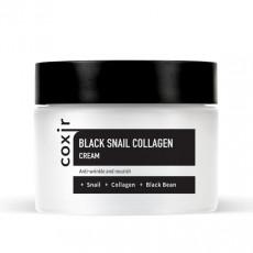 Coxir Black Snail Collagen Cream - Cremă pentru față anti-îmbătrânire