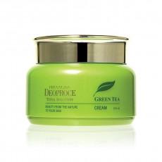 Deoproce Green Tea Total Solution Cream - Cremă pentru față pe bază de ceai verde