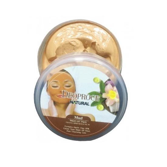 Deoproce Natural Wash-off Mud Pack - Mască pentru față cu argilă
