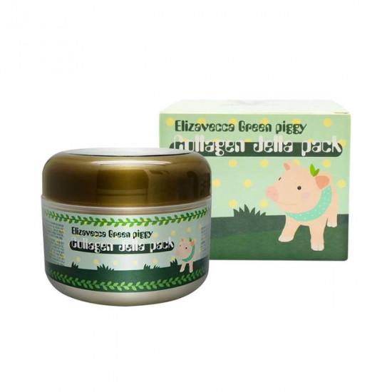 Elizavecca Green Piggy Collagen Jella Pack - Mască pentru față cu efect de lifting