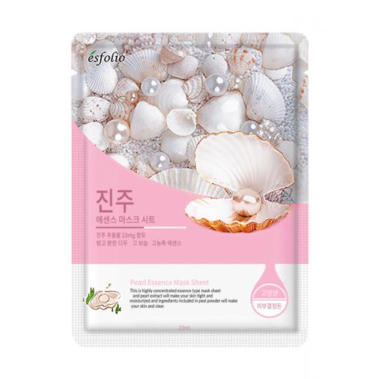 Esfolio Pearl Essence Mask Sheet - Mască de pânză cu extract de perle