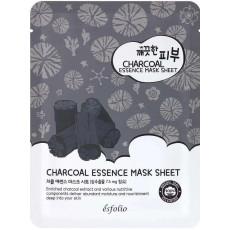 Esfolio Pure Skin Charcoal Essence Mask Sheet - Mască de pânză cu cărbune