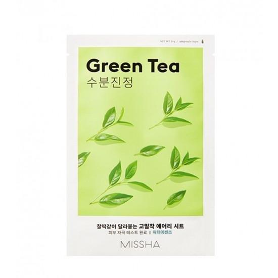 Missha Sheet Mask Green Tea - Mască de pânză cu extract de ceai verde