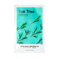 Missha Sheet Mask Tea Tree - Mască din pânză pentru față cu extract de copac de ceai
