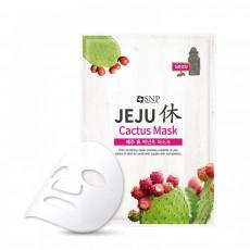SNP Jeju Rest Cactus Mask - Mască din pânză pentru față cu extract de cactus
