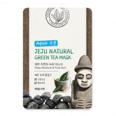 Welcos Jeju Natural Green Tea Mask - Mască de pânză cu extract de ceai verde