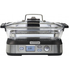 Aparat de gătit cu aburi Cuisinart STM1000E, Inox/Black