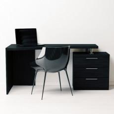 Masă de birou Indart Desk 03, Wood/White/Black