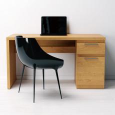 Masă de birou Indart Desk 08, Wood/Black