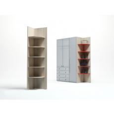 Dulap de colț Indart 11 (45 cm), Wood