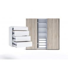 Raft pentru dulap Indart Blok 01 (60 cm), White
