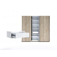 Raft pentru dulap Indart Blok 02 (60 cm), White
