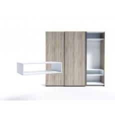 Raft pentru dulap Indart Blok 04 (60 cm), White