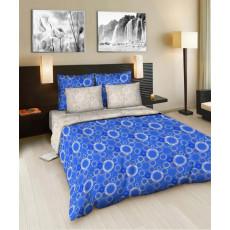 Lenjerie de pat Cottony Bumbac Cercuri albastre