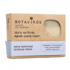Săpun Botavikos Mentă și argilă verde pentru față și corp, 100 g