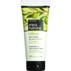 Scrub pentru corp Farcom Mea Natura Olive cu extract de Olive, 200 ml