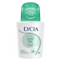 Deodorant roll-on Lycia Pure Talc cu Talc, 50 ml