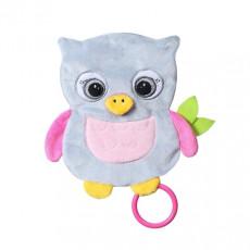 """BabyOno 0446 Jurărie de pluș """"FLAT OWL CELESTE"""" pentru bebeluși"""